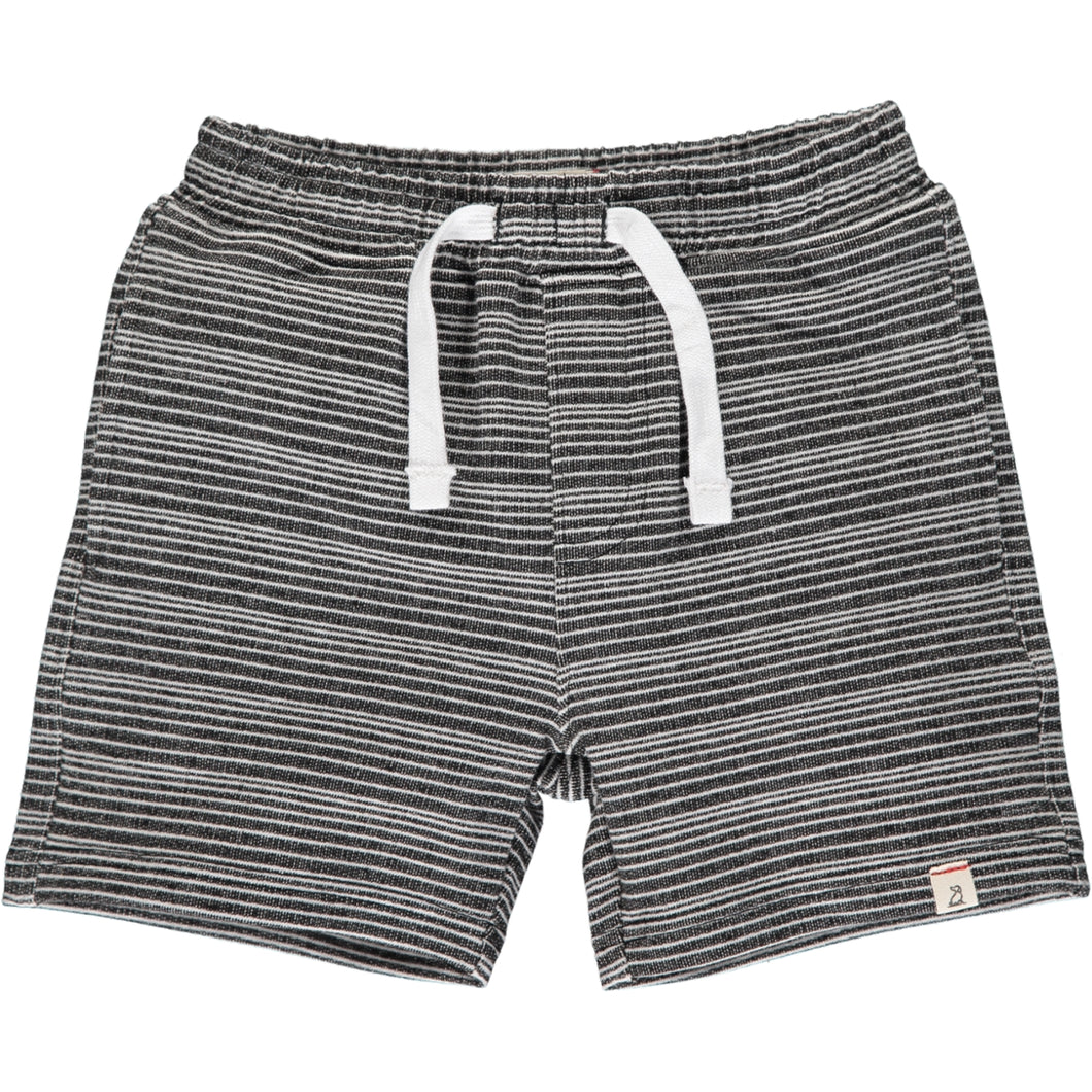 Soft Black and White Stripe Shorts