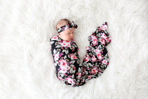 Milana Swaddle and Headwrap Set