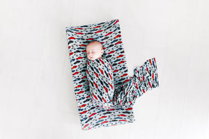 Miles Swaddle and Beanie Set