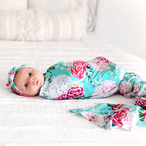 Eloise Infant Swaddle and Headwrap Set
