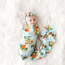 Mirabella Infant Swaddle and Headwrap Set