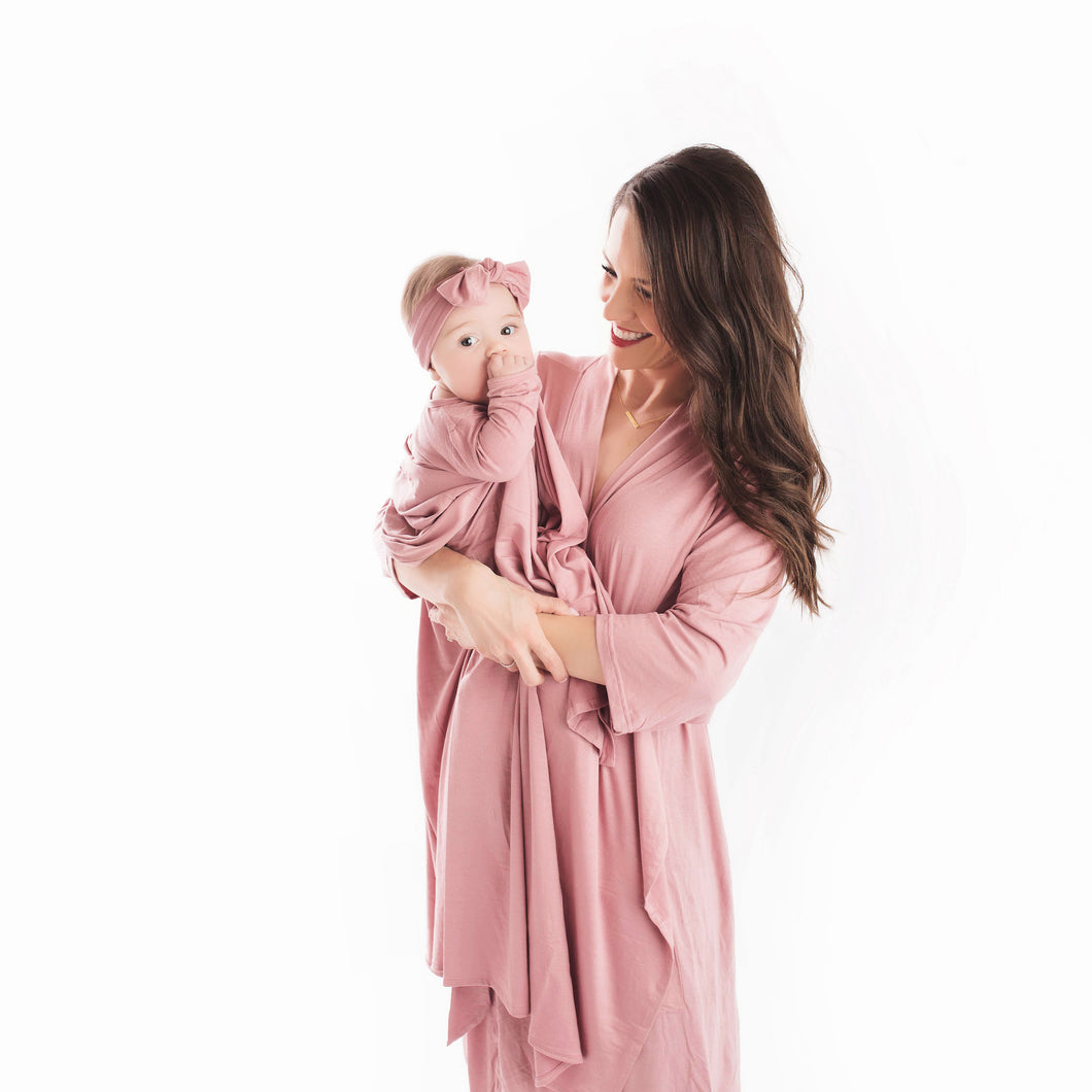 Mommy Robe in Dusty Rose