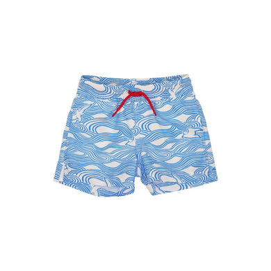 Tortola Trunks in Gull Play with Richmond Red