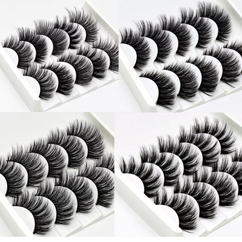 2018 NEW 13 Styles 5Pairs Mink Hair False Eyelashes Natural/Thick Long Eye Lashes Wispy Makeup Beauty Extension Tools Wimpers - Hothits