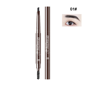 2018 New Double-Ended 3D Eyebrow Pencil with Mascara Natural Eye Brow Tint Cosmetics Waterproof Pigment for Eyebrows Black Brown - Hothits