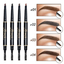 Load image into Gallery viewer, 2018 New Double-Ended 3D Eyebrow Pencil with Mascara Natural Eye Brow Tint Cosmetics Waterproof Pigment for Eyebrows Black Brown - Hothits