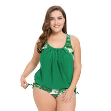 Load image into Gallery viewer, 2019 Plus Size XL to 5XL One Piece Women Swimwear Green Leaves Large Swimsuit Female Big 4XL Bathing suit Sexy Beachwear Biquini - Hothits