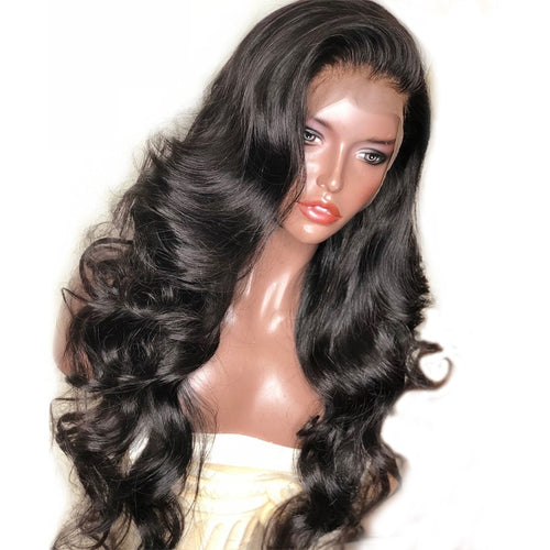 250 Density Lace Front Human Hair Wigs For Women Black Body Wave 13x6 Lace Front Wig Brazilian Wig Pre Plucked Remy - Hothits
