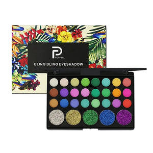 29 Color Eye Shadow Palette Glitter Waterproof Long-lasting Make Up Pressed Pigment Professional Makeup Matte Eyeshadow Pallete - Hothits