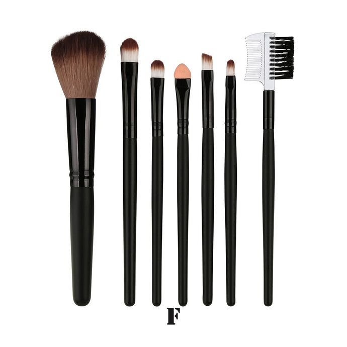 7 Pcs Blending Brush Tool Wood Makeup Brush Brush Cosmetics pinceis de maquiagem - Hothits