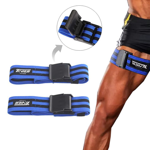 Bodybuilding Leg Occlusion Blood Flow Restriction Training Resistance Bands Kaatsu Straps Gym Fitness Equipment - Hothits