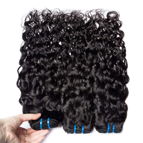 Virgin Brazilian Water Wave Bundles Yavida Human Hair Weave Bundles Non-remy Hair Extensions Brazilian Hair Bundles 1/3/4 Pieces