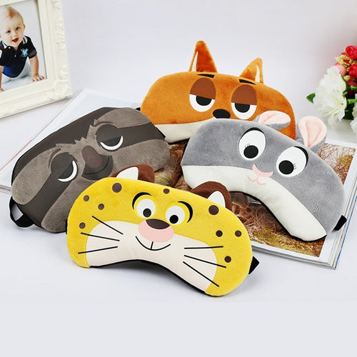 Cartoon Sleep Eye Mask  Anime Ice Hot Compress Eye Cover Sleeping Mask Kids Cold Gel Packs Eye Blindfolds Travel Rest Eyepatch - Hothits
