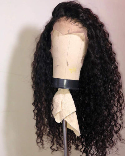 Beauty Loose Curly Synthetic Lace Front Wig Heat Resistant Fiber Black Hair Lace Front Wig Free Style Synthetic Wigs - Hothits