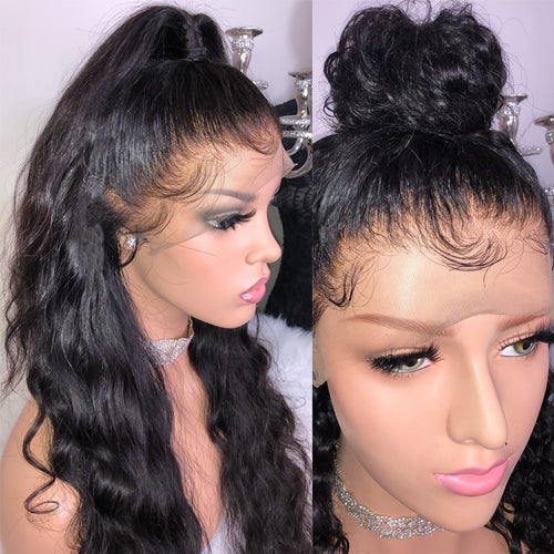 HD TRANSPARENT Full Lace Wig With Baby Hair Body Wave Glueless Brazilian Human Hair Wigs Silk Base Wigs Pre Plucked Remy