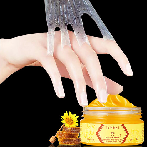Honey Milk Hand Mask Hand Care Nourish Moisturizing Whitening Skin Care Exfoliating Calluses Hand Film Exfoliating Scrub 110g