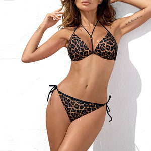 In-X Snake skin sexy bikini 2019 Triangle brazilian swimsuit female swimwear Push up bathing suit plus size women beachwear XL - Hothits