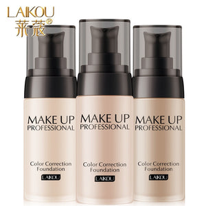 Laikou Brand Makeup Base Face Liquid Foundation BB Cream Concealer Moisturizer Oil-control Whitening Waterproof Maquiagem Makeup - Hothits