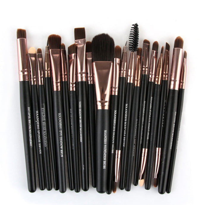 20pcs Makeup Brushes Set Powder Foundation Concealer Brushes Face Contour make up kwasten Nylon Hair pro For Beauty Tools - Hothits