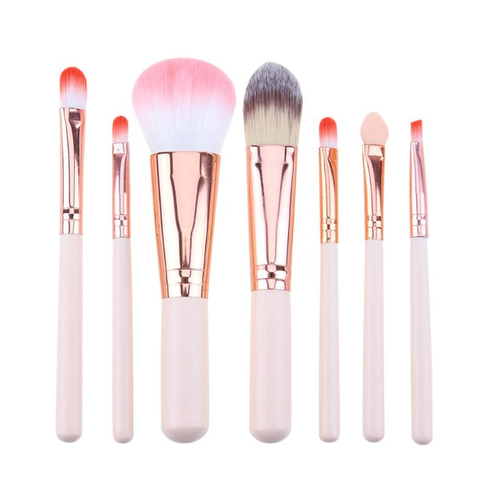 Mini Makeup brush Set Pink Cosmetics Kit de pinceis de maquiagem high-end Make up Tool Hair Foundation Brushes Kit - Hothits