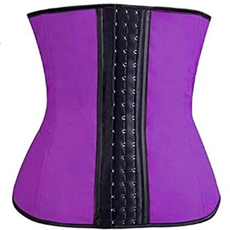 NINGMI Rubber Body shaper for women sexy Shapewear Waist Trainer Cincher latex Shaper Burning Slimming waist Belt Corset Bustier - Hothits