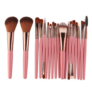 Professional 18 Pcs Beauty Makeup Brushes Set Cosmetic Powder Foundation Blush Lip Blending Make Up Brush