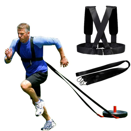 Resistance Bands Weight Bearing Shoulder Strap for Resistance Training Running Speed Exercise Workout Expander Fitness Band