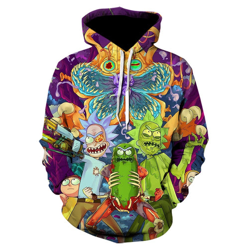 Rick and Morty Autumn and winter 3D printed sweatshirt Men's and women's casual hoodie funny cartoon Tops hip hop Hoodies