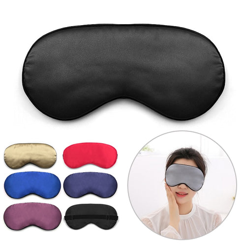 Silk Sleep Eye Mask Padded Shade Eye Cover Patch Sleeping Mask Eyemask Blindfolds Travel Relax Rest Women Men