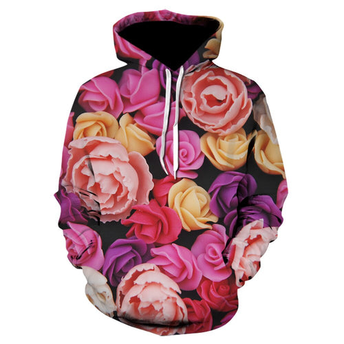 Stranger Things Rose Petals 3D Printed Hoodie Fashion Hip-Hop Pullover Men cool hoodies Weeds winter jacket men 2019skull