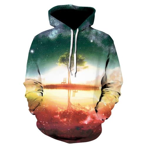The Evening Trees Printed 3D Hoodies Men Women Sweatshirts Brand Hoodie Fashion Casual Tracksuits Plus Size Quality Streetwear