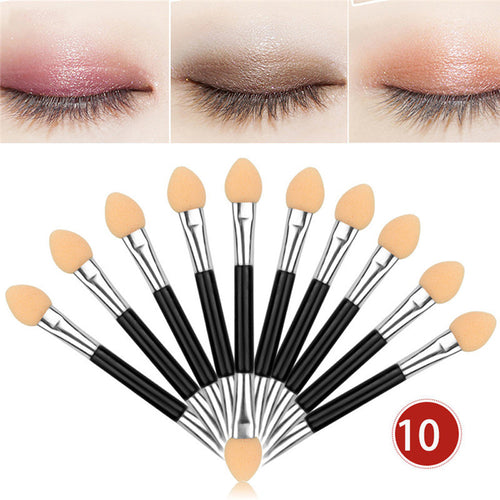 Top sell 12Pcs 10pcs Makeup Double-end Eye Shadow Eyeliner Brush Sponge Applicator Tool support drop shipping