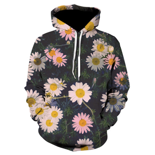 Winter Harajuku Long Sleeve Top 3D Print Men's Hoodie Fancy hoodies Weed Casual Neutral Flower Hoodie Coat  streetwear skull