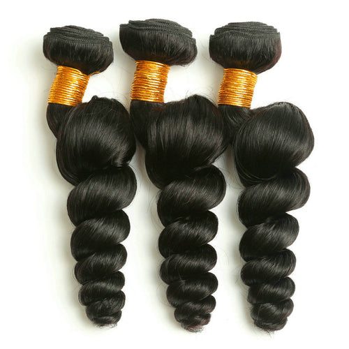 Virgin Malaysian Loose Wave Bundles Hair Weave Extensions 100% Human Hair Bundles Non-Remy Hair 1/3/4pcs/Lot