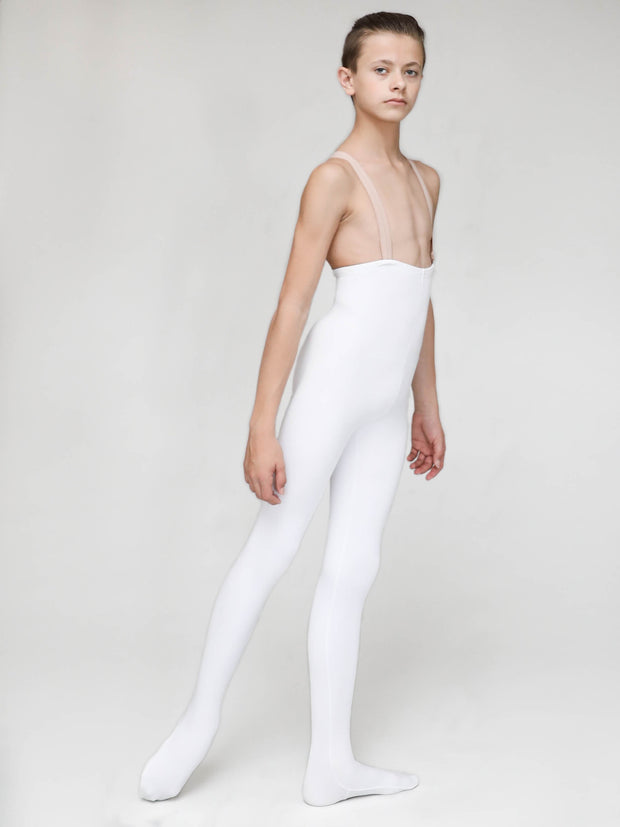 Opaque white dance tights for boys by boysdancetoo the dance store for men