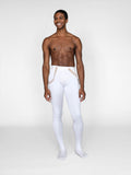 Men's Tricot White Footed Ballet tights for dyeing by boysdancetoo. Instead of MStevens Dance Tights, try these!