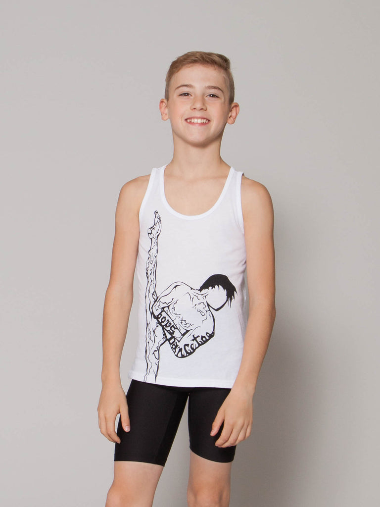 Boys' featured photo for boys' dance tank top with dancer image! Great to for boy dancers to wear at dance competitions and in dance class!
