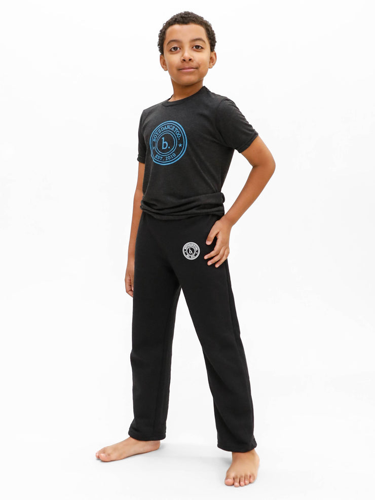 Devin Trey Campbell from ABC's Single Parents and Broadway's Kinky Boots wearing boys dance sweat pants for boysdancetoo the dance store for men