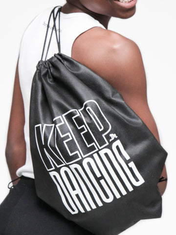 Keep Dancing Drawstring Bag