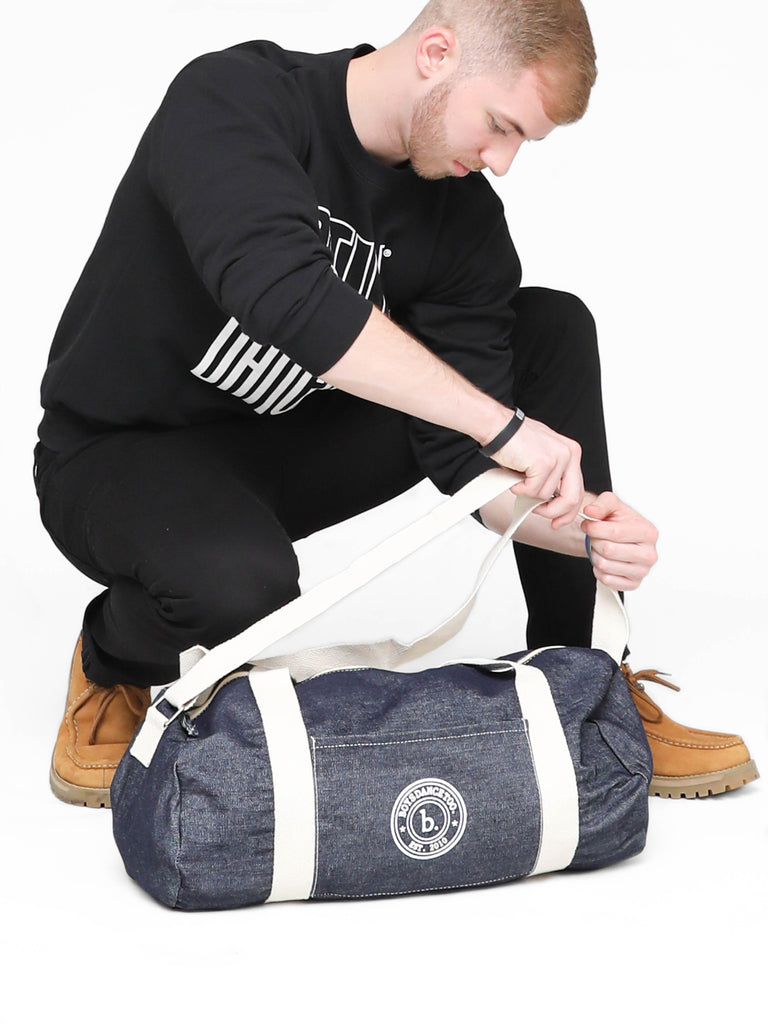 Est. 2010 Denim Duffle with Shoulder Strap
