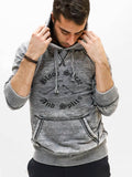 Owner of boysdancetoo sometimes models too! Michael is modeling a men's dance hoody with Blood Sweat and Splits Print.