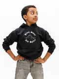 Devin Trey Campbell of ABC's Single Parents and Kinky Boots on Broadway models boysdancetoo Blood Sweat and Splits boys dance hoody.