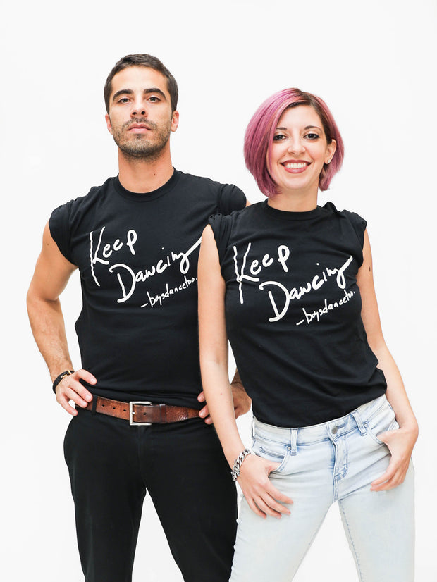 Tell your favorite male dancer to KEEP DANCING. Keep dancing tee shirt by boysdancetoo the dance store for men