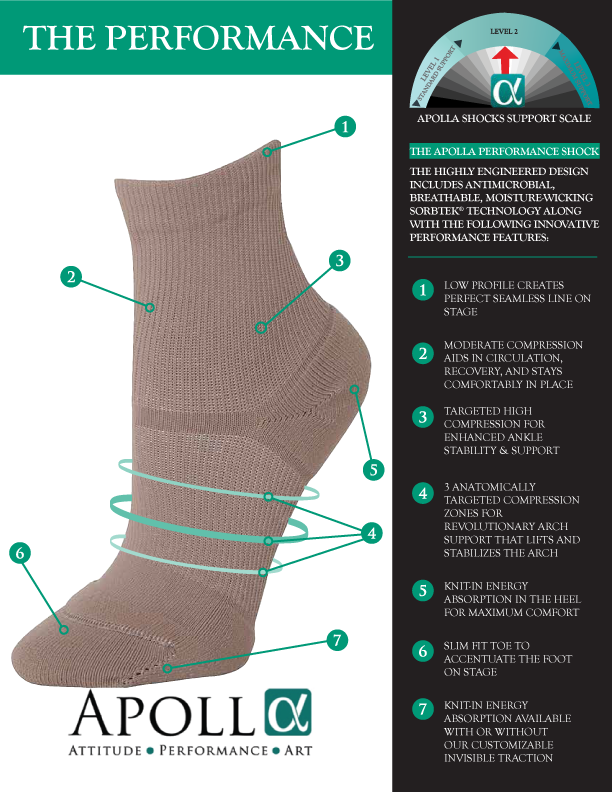 Medium Compression Dance Socks