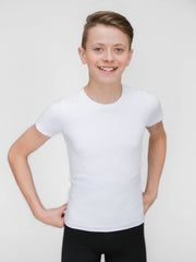 Ballet crew neck tee shirt for boys by WearMoi, at boysdancetoo the dance store for men.