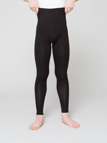 Joffrey Ballet Trainee Tyler Diggs models Cotton Blend Footless Tights for boys by Wearmoi for boysdancetoo the dance store for men