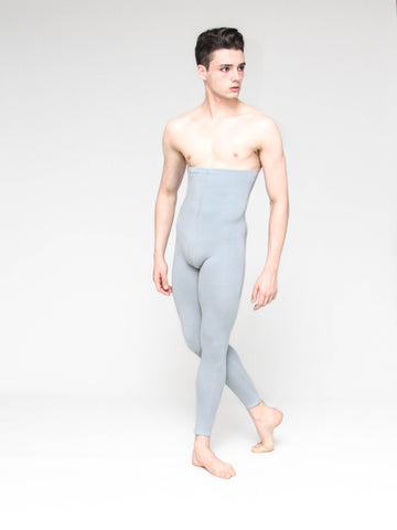 Patrick Frenette of American Ballet Theater, models High Waisted Cotton Footless Tights for men by Wearmoi for boysdancetoo the dance store for men