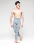 Patrick Frenette of American Ballet Theater, models High Waisted Cotton Footless Tights for male dancers by Wearmoi for boysdancetoo the dance store for men