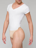Men's V-Neck Short Sleeved Leotard with Dance Bely by Wearmoi, The Ivan, at boysdancetoo the dance store for men