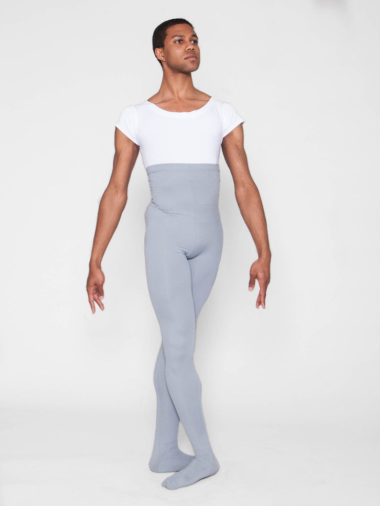 Microfiber footed dance tights for men by WearMoi at boysdancetoo the dance store for men